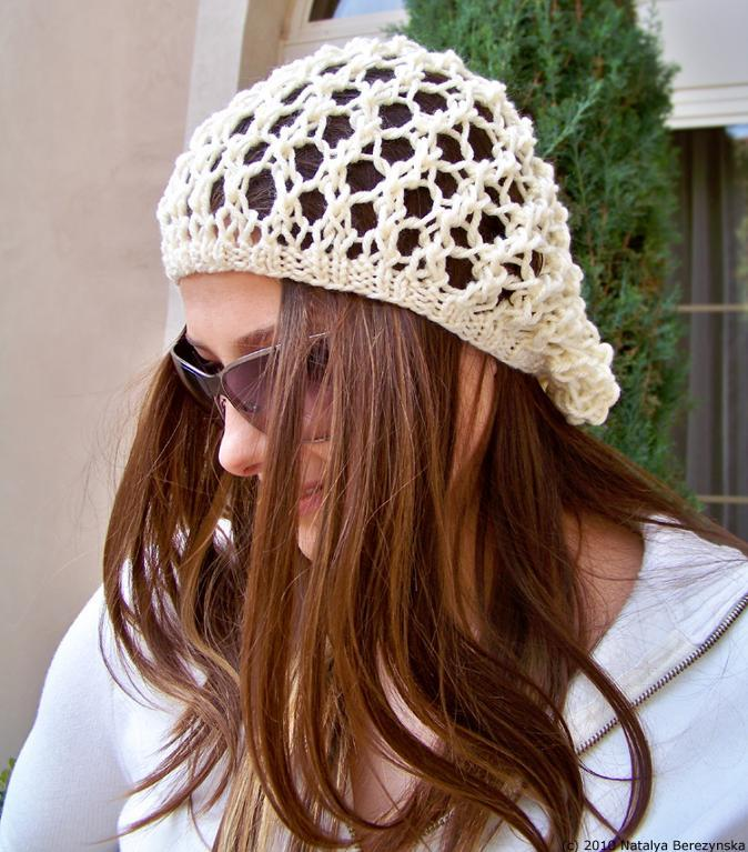 Knit Slouchy Beanie Pattern Instruction