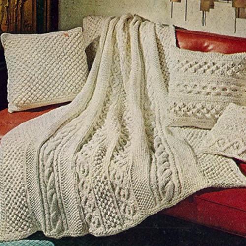 Knitted Aran Afghan Pattern