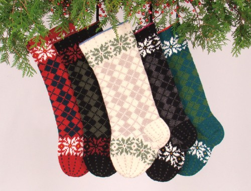 Knitted Christmas Stocking Design Patterns