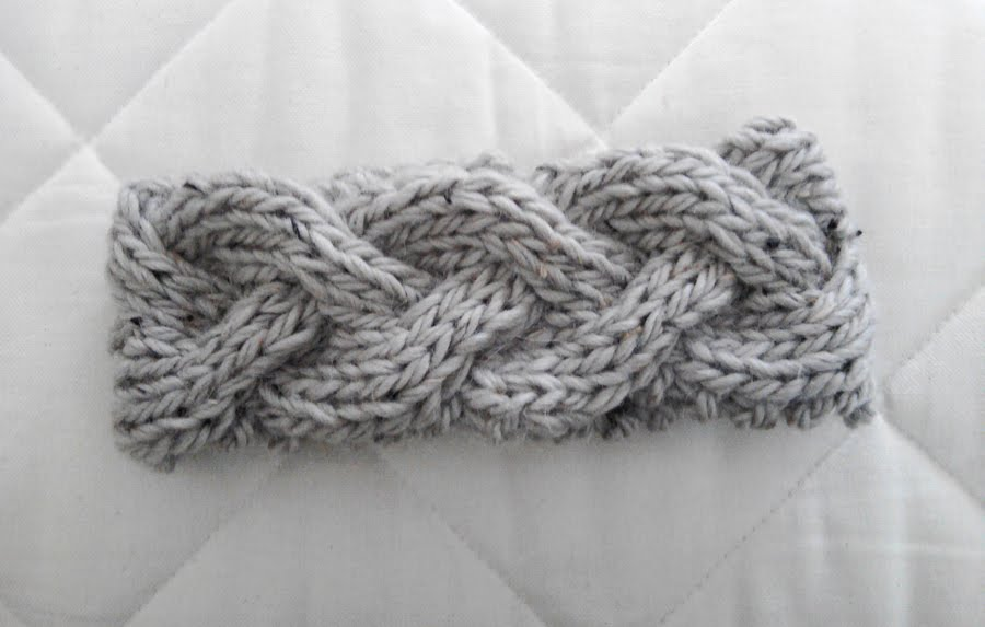 Knitted Chunky Braided Headband Pattern Tutorial