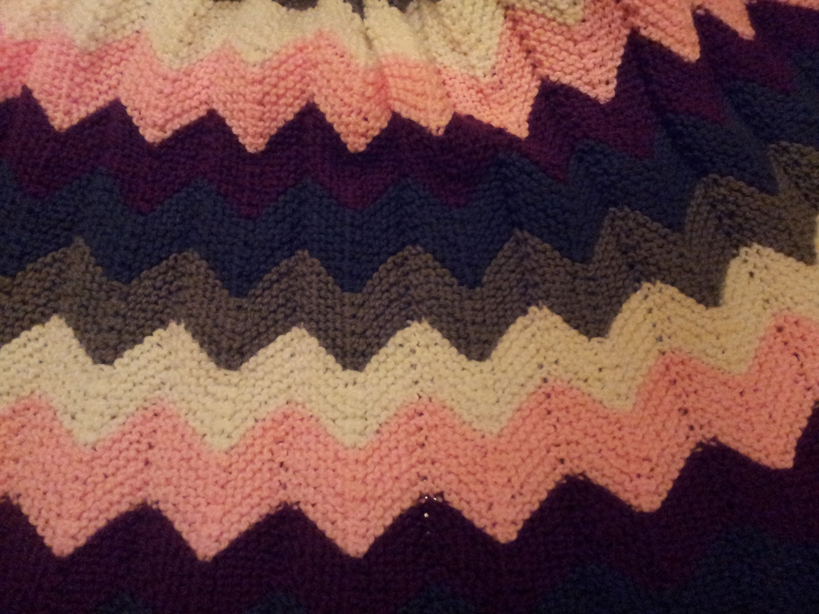 Knitted Ripple Afghan Pattern