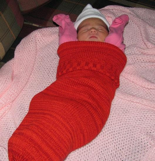Knitting Baby Cocoon Pattern