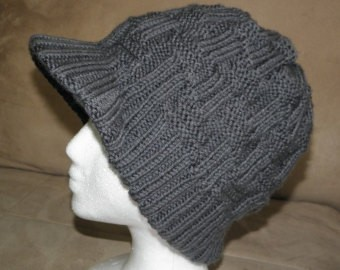 Knitting Beanie with Visor Pattern
