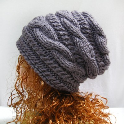 Knitting Pattern Hat Slouchy Beanie