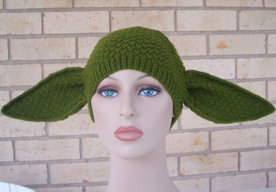 Knitting Yoda Hat Pattern Instruction