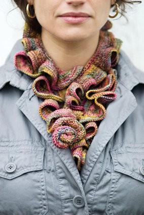 Koigu Ruffle Scarf Knitting Pattern Designs