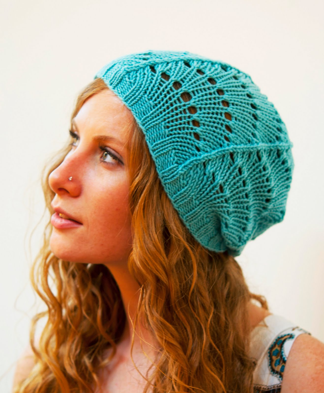 Lace Beanie Knitting Pattern