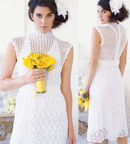 Lace Dress Sweater Knitting Pattern