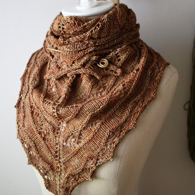 Lace Shawlette Knitting Pattern