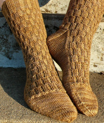 Lacunae Sock Knitting Pattern