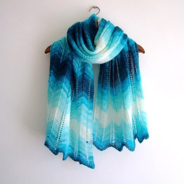 Lacy Chevron Shawl Knitting Pattern