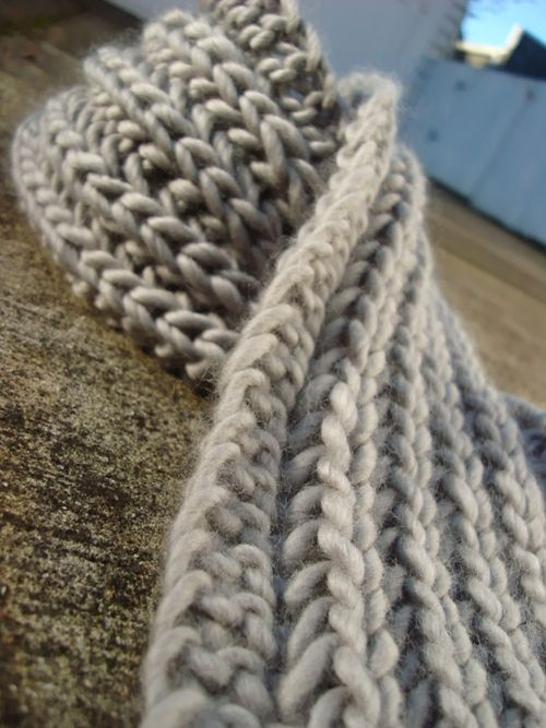 Lanchester Chunky Knitting Scarf Pattern Photos
