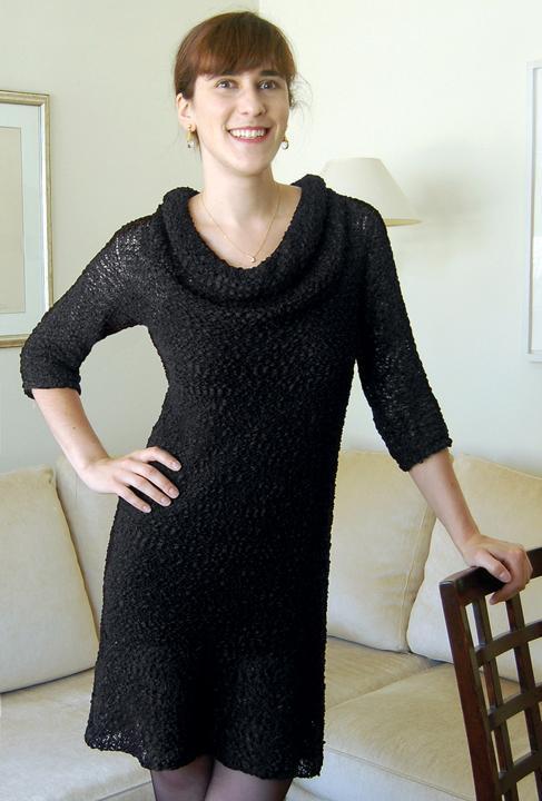 Little Black Dress Sweater Knitting Pattern