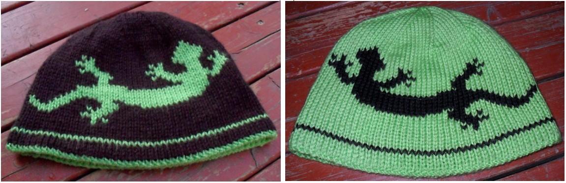 Lizard Hat Double Knitting Hat Pattern