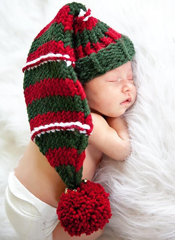 Long Loom Knit Christmas Elf Hat Pattern