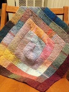 Loom Knit Baby Blanket Pattern Instruction Images