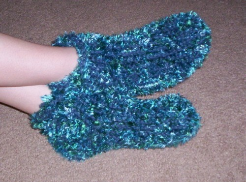 Loom Knit Chunky Slipper Pattern