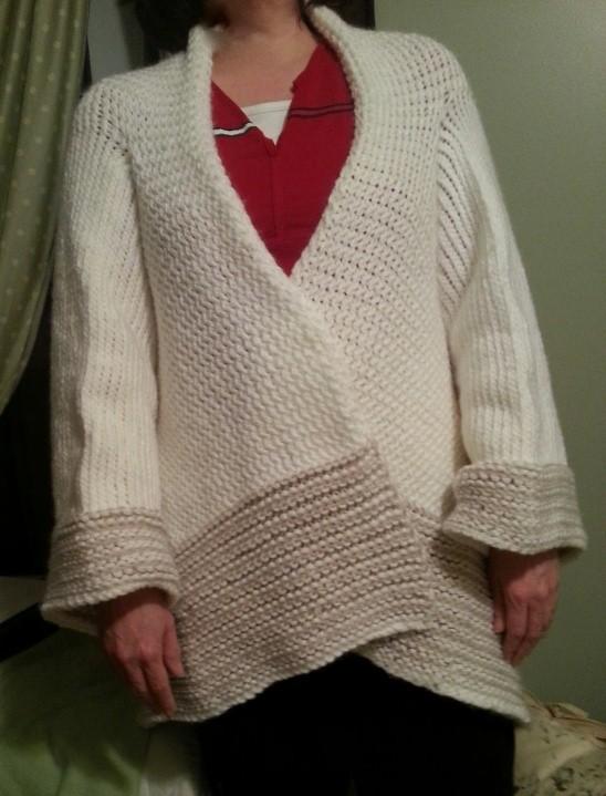 Loom Knit Oversized Sweater Pattern