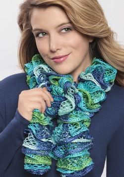 Loom Knit Ruffle Scarf Pattern
