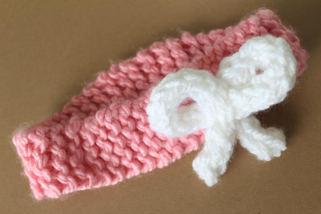 Loom Knitting Baby Headband Pattern Instruction