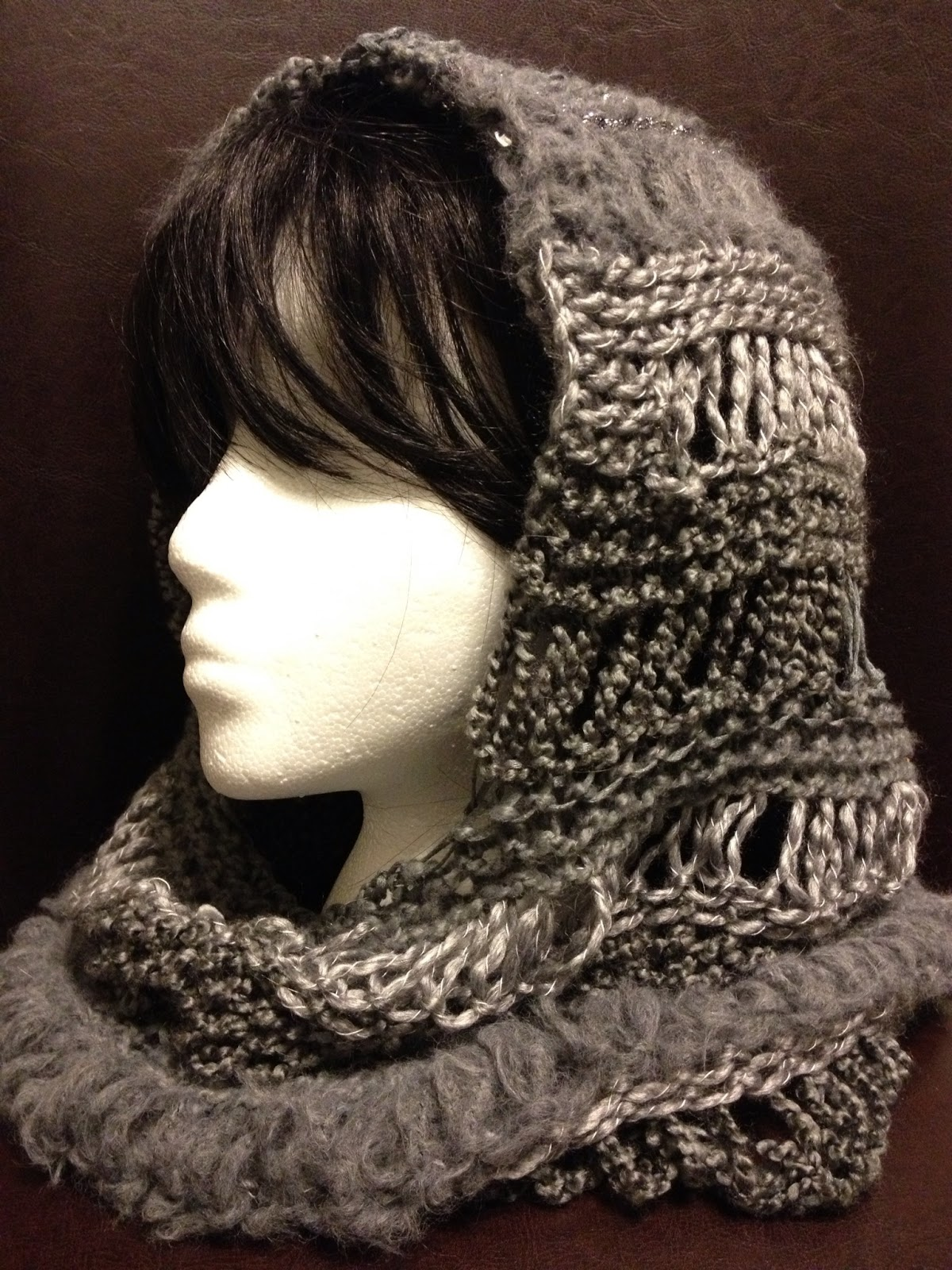 Loom Knitting Hooded Cowl Pattern