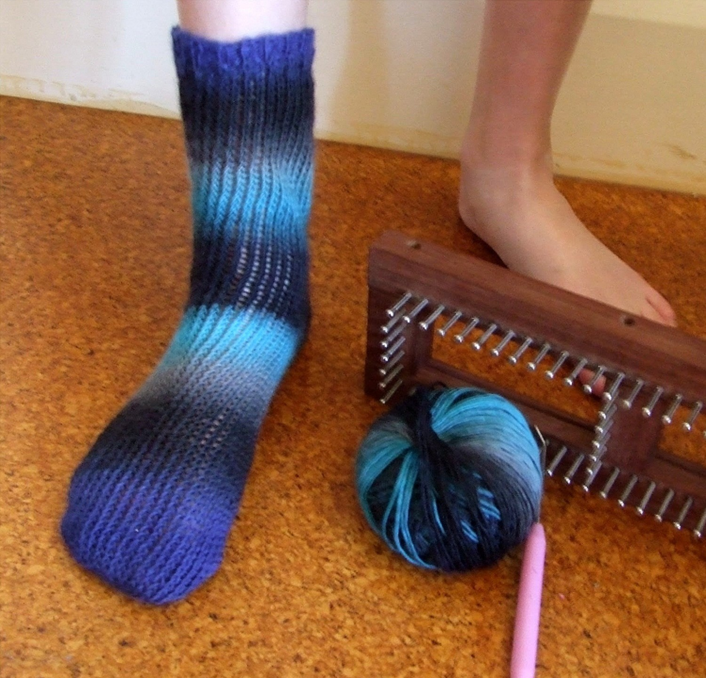Loom Knitting Sock Pattern Instruction