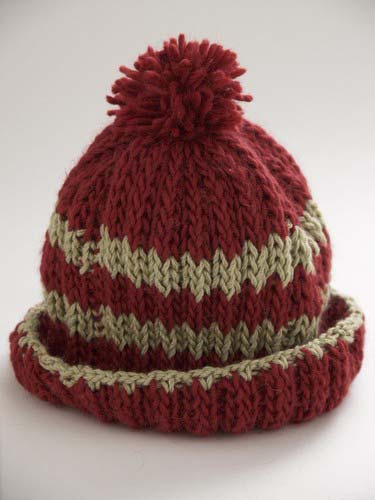 Loom Stripe Hat Rib Pattern Design