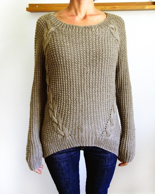 Loose Knit Cabled Sweater Pattern