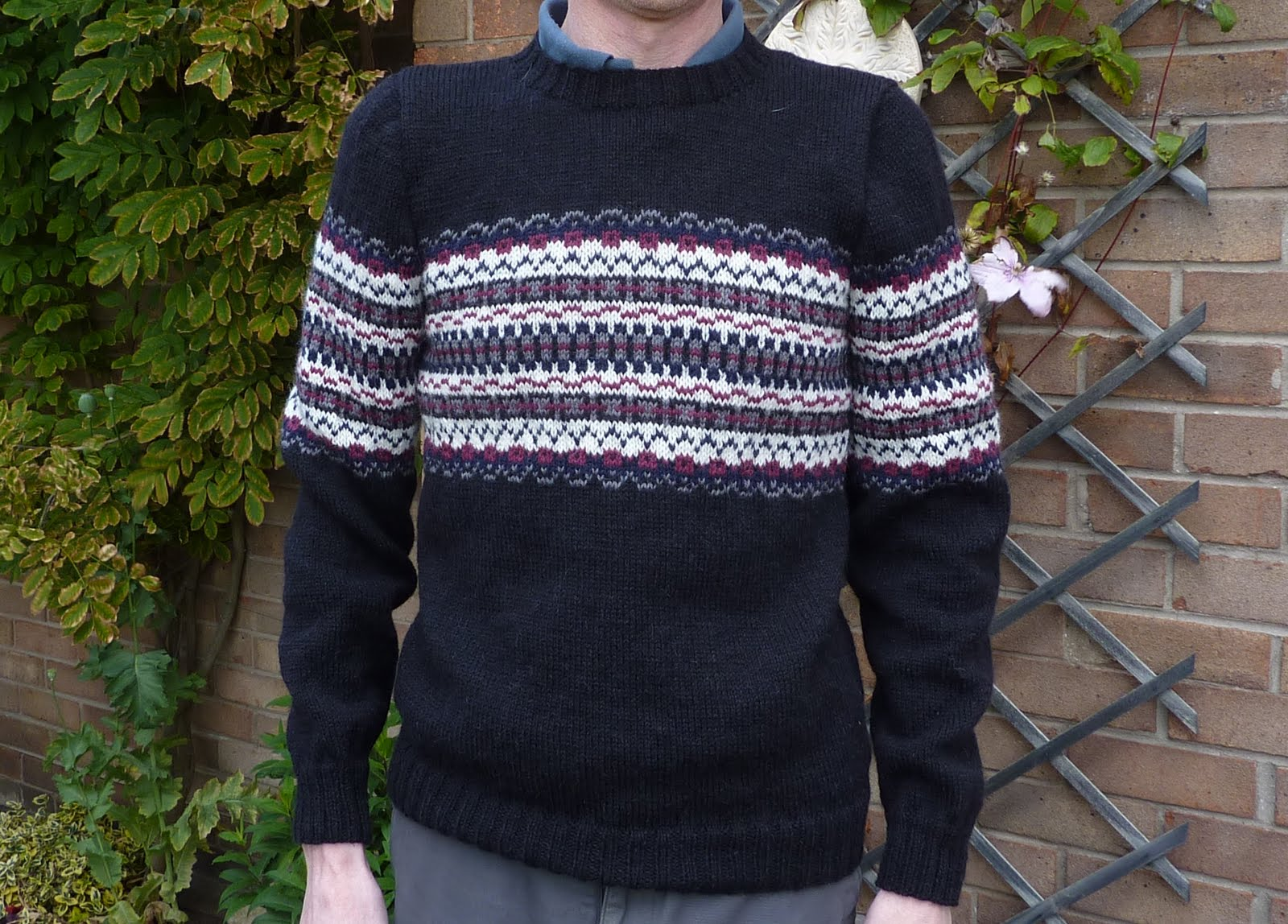 Men's Sweater Knitting Pattern Instruction Image