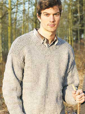 Men's V-Neck Sweater Knitting Pattern