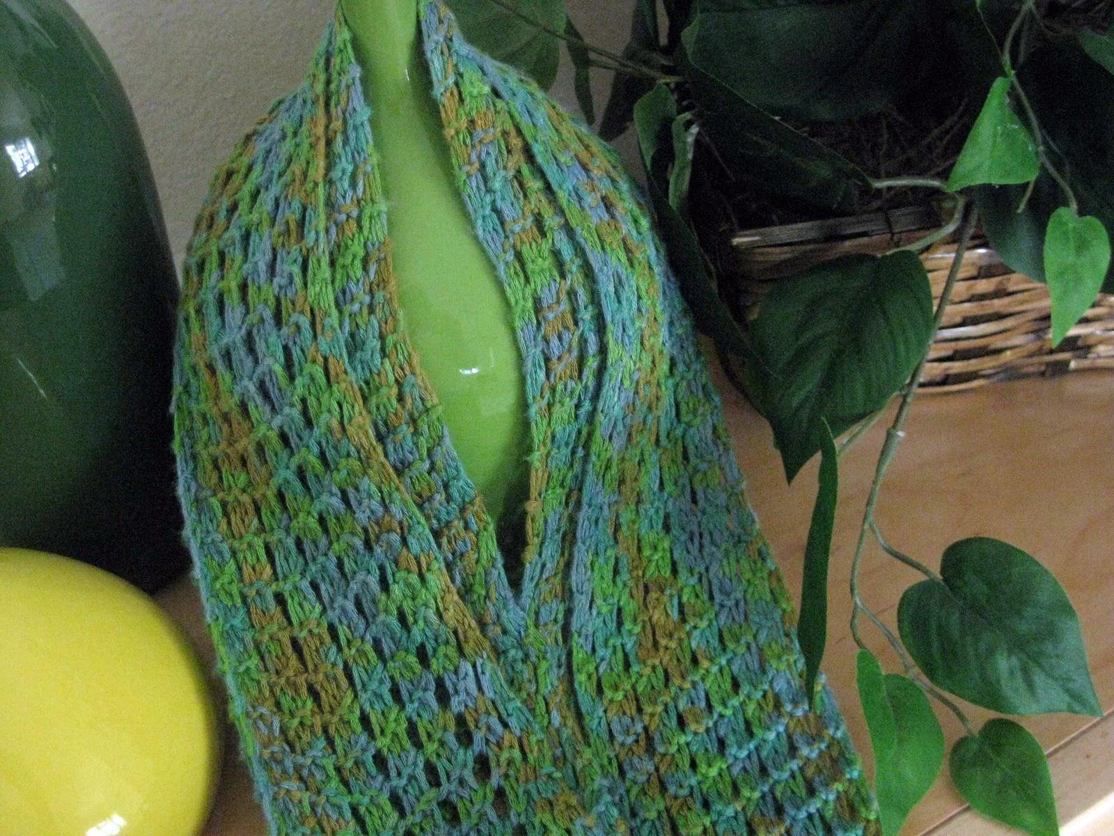 Mesh Bamboo Scarf Knitting Pattern