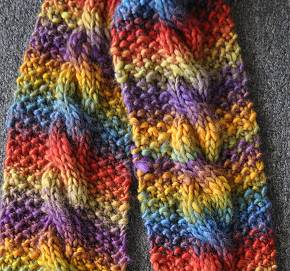 Mochi Cable Knitting Scarf Pattern