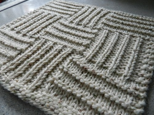 Nine Squared Dishcloth Knitting Pattern