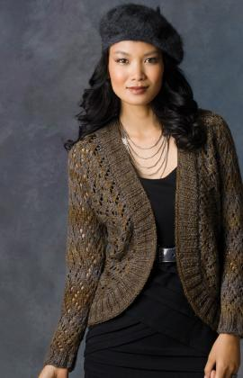 Open-Knit Shrug Pattern Images