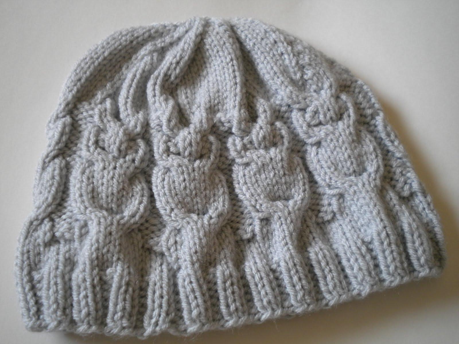 Owl Hat Knitting Pattern Instruction