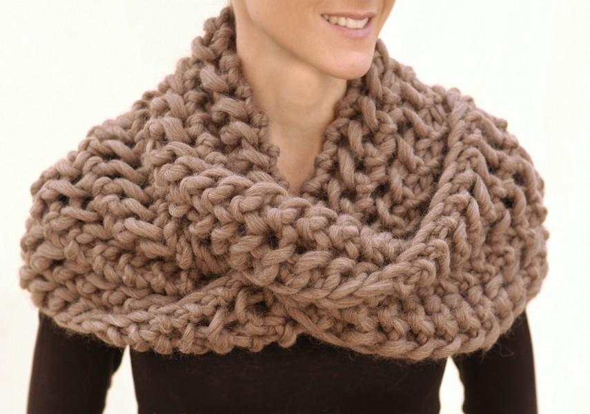 Photo of Infinity Scarf Knitting Pattern Tutorial
