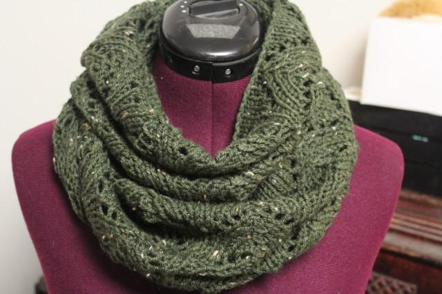 Photo of Lacey Arches Infinity Scarf Pattern