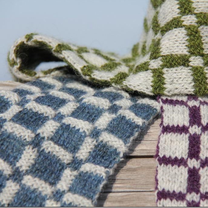 Plaid Double Knit Scarf Pattern