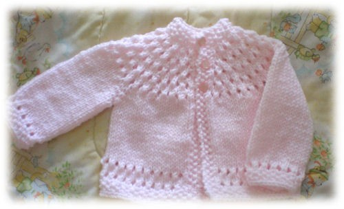 Pretty Baby Sweater Knitting Pattern