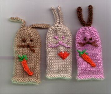 Rabbit Finger Puppets Knitting Pattern