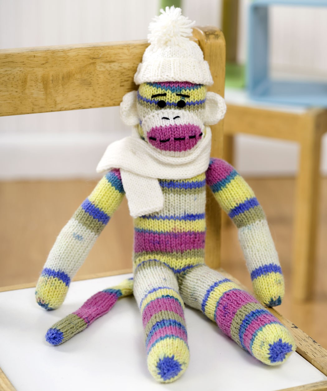 Red Heart Sock Monkey Knitting Pattern