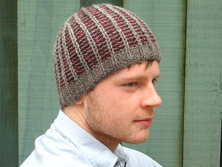 Reversible Men's Hat Knit Pattern