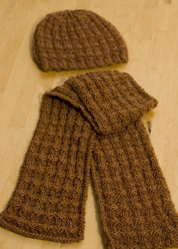 Reversible Tweed Scarf Knitting Pattern