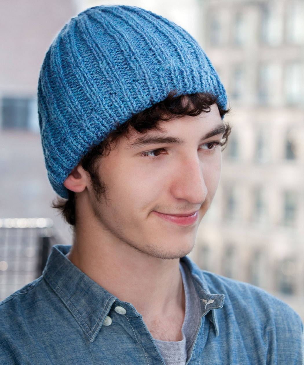 Rib Hat Knitting Pattern For Men