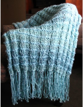 Rib and Garter Prayer Shawl Knit Pattern