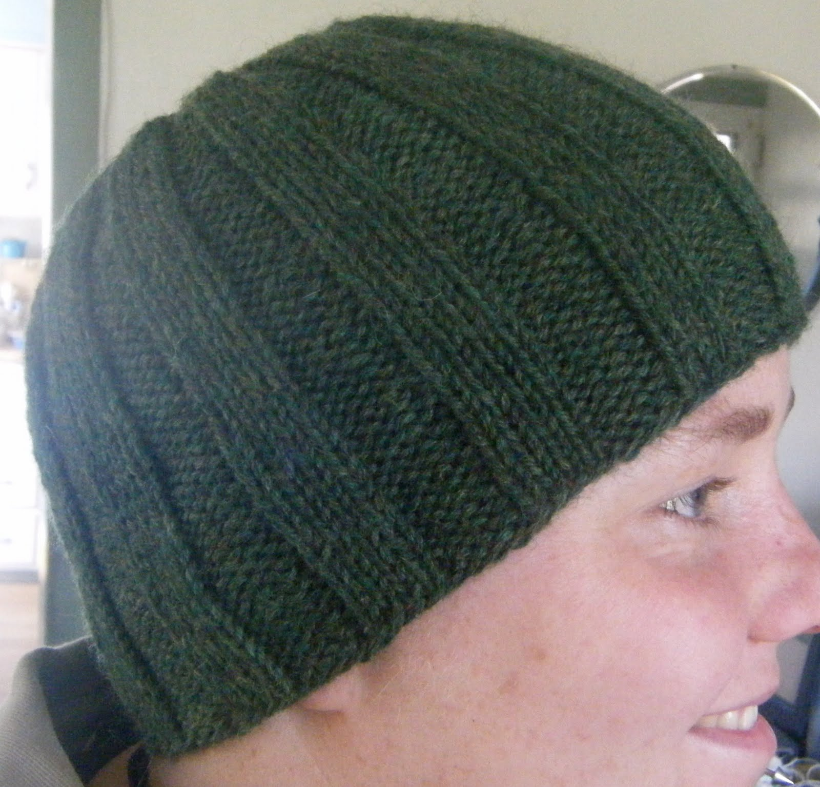 Ribbed Beanie Hat Knitting Pattern Images