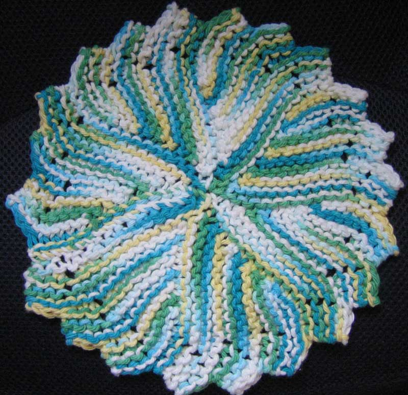 Round Knit Dishcloth Pattern