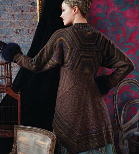 Russian Sweater Coat Knitting Pattern