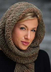 Scarf Head Wrap Loom Knitting Pattern Tutorial