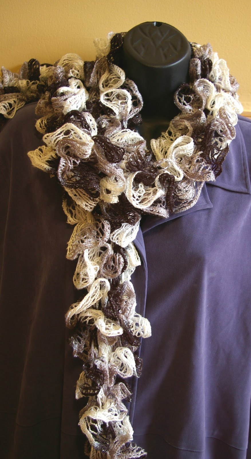 Scarf Knitting Pattern For Sashay Yarn